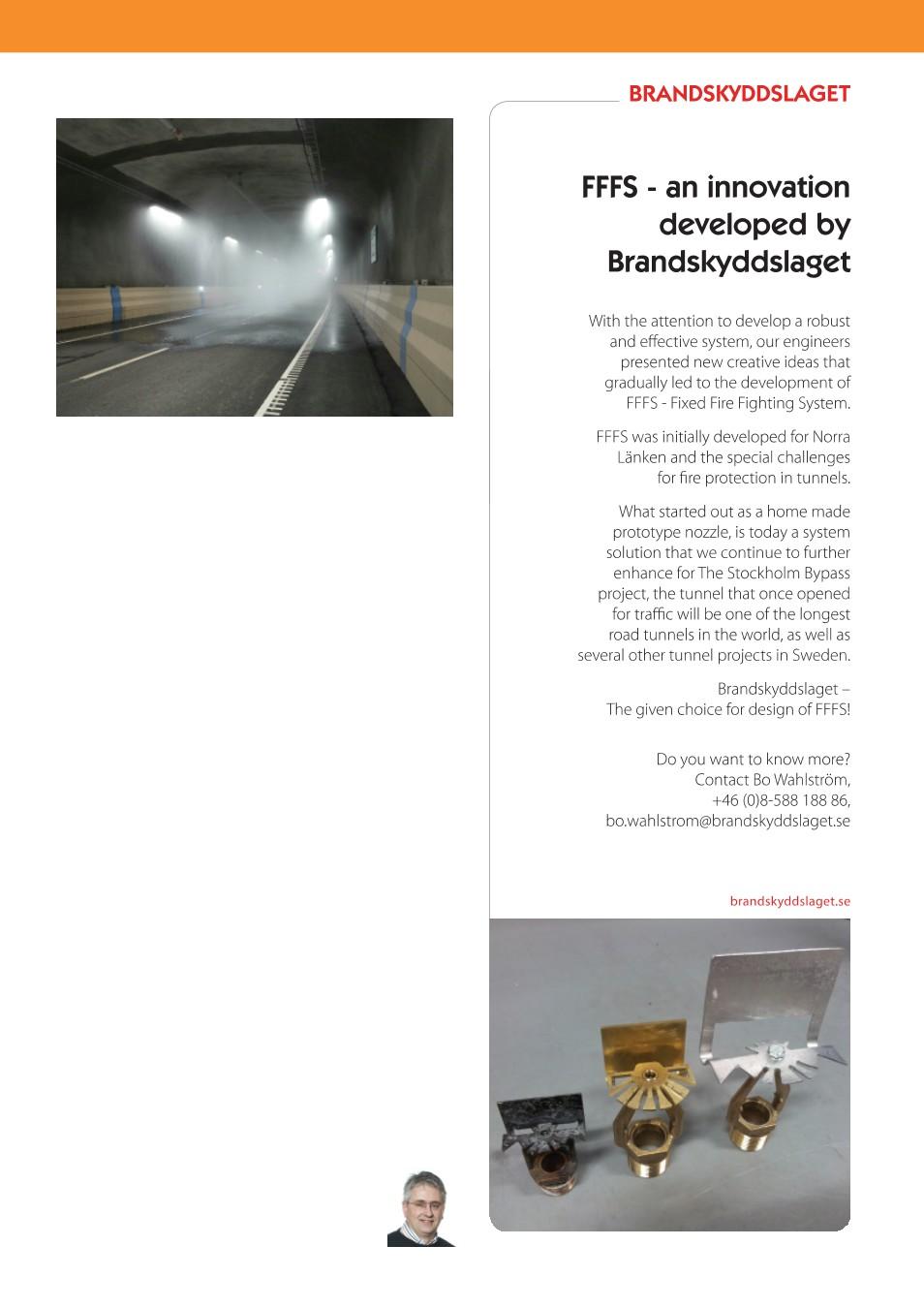 Norra lanken stangd bilbrand i tunnel